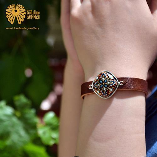 دستبند زنانه طرح چهارپر