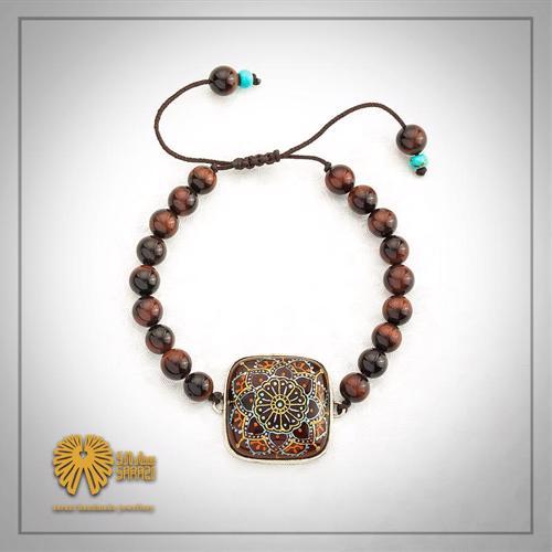 دستبند زنانه طرح ثمین مینا
