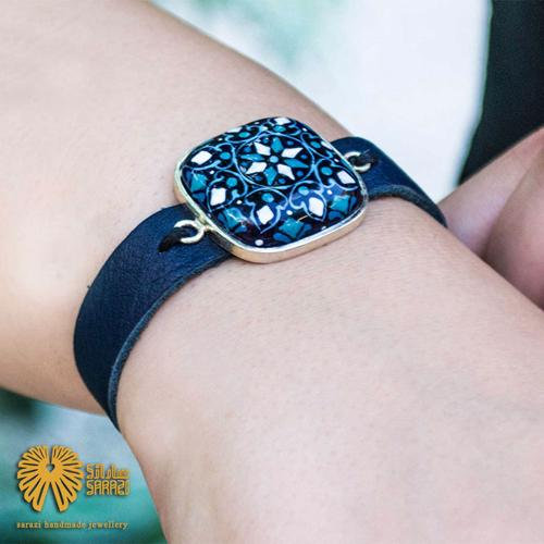 دستبند زنانه طرح کاشی کاری