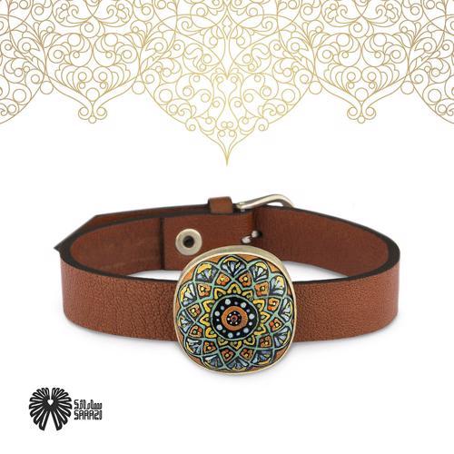 دستبند زنانه طرح کاشی قجر