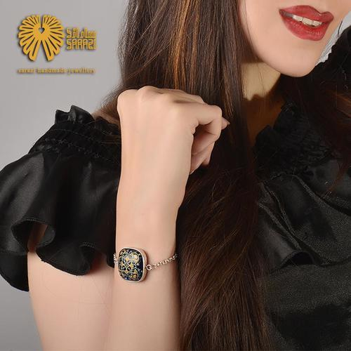 دستبند زنانه طرح اسلیمی ختایی