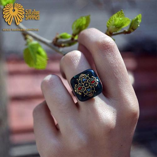انگشتر زنانه طرح پروانه رنگین