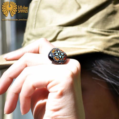 انگشتر زنانه طرح چهارپر لوتوس