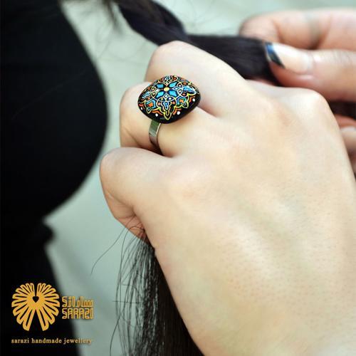 انگشتر زنانه طرح شیوای رنگین
