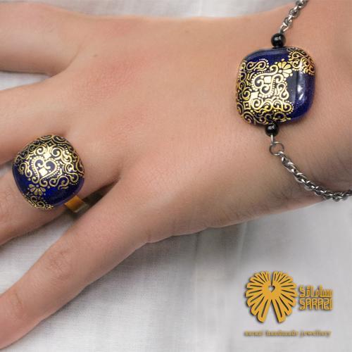دستبند زنانه طرح پیچک طلایی