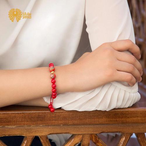 دستبند زنانه طرح مرجان
