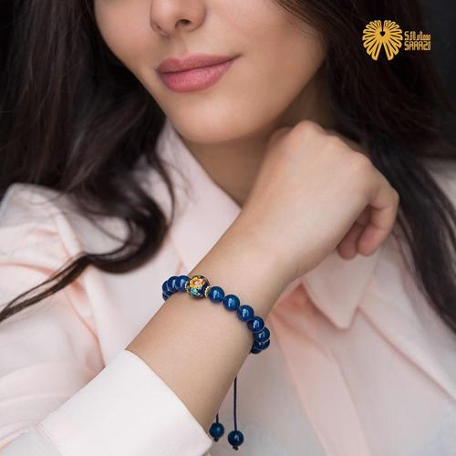 دستبند زنانه طرح لاجورد