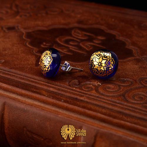 گوشواره زنانه طرح ستاره آبی
