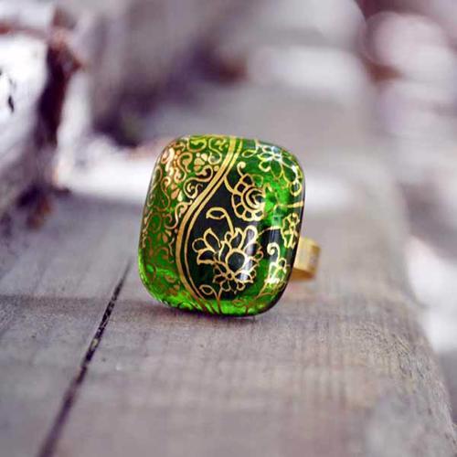 انگشتر زنانه طرح اسلیم شاه عباسی