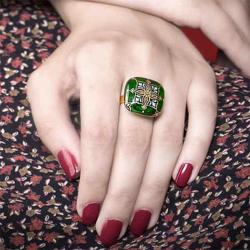 انگشتر زنانه طرح ستاره