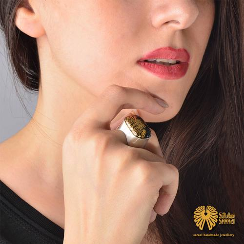 انگشتر زنانه طرح تاج