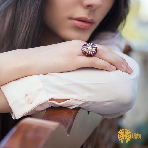 انگشتر زنانه طرح مقرنس