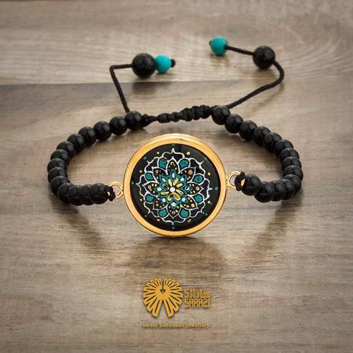 دستبند زنانه طرح نیلوفر
