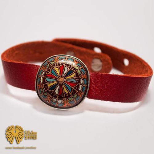 دستبند زنانه طرح رنگین کمان