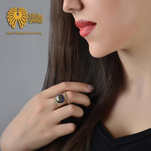 انگشتر زنانه طرح مینا شاه عباسی